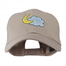 Halloween Cloud and Moon Embroidered Cap