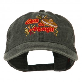 Cinco De Mayo Embroidered Washed Cap