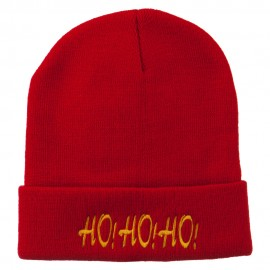 Christmas Letter Ho Ho Ho Embroidered Beanie