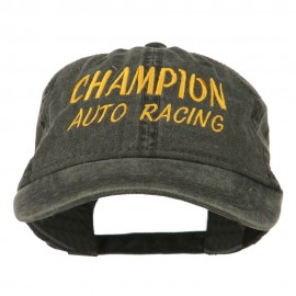 Champion Auto Racing Embroidered Washed Cap