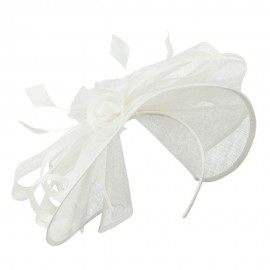 Parted Sinamay Flower Fascinator