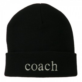 Coach Embroidered Long Beanie