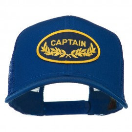 Captain Oak Leaf Military Patched Mesh Back Cap - Royal