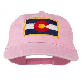 Colorado State Flag Embroidered Washed Buckle Cap