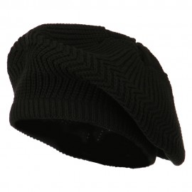 Cotton Rasta Tam Beret - Black