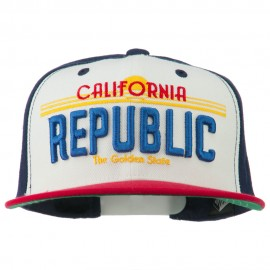 California Republic Plate Flat Bill Cap