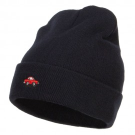 Mini Car Embroidered Long Beanie