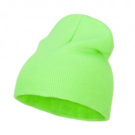 Classic Safety Short Beanie - Lime