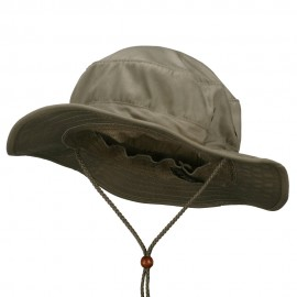 Cotton Twill Bucket Hats-Khaki