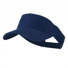 Cotton Twill Washed Soft Visor-Navy