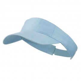 Cotton Twill Washed Soft Visor-Lt Blue