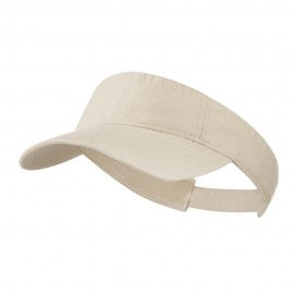 Cotton Twill Washed Soft Visor-Khaki