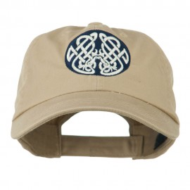 Celtic Emblem with Birds Embroidered Cap