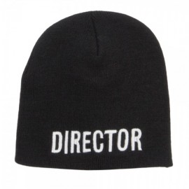 Director Embroidered Short Beanie