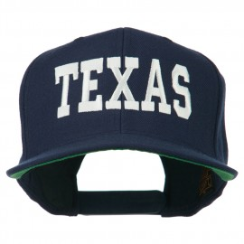 College Texas Embroidered Snapback Cap - Navy