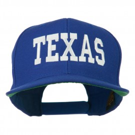 College Texas Embroidered Snapback Cap - Royal
