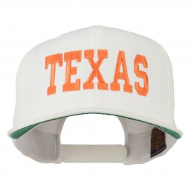 College Texas Embroidered Snapback Cap