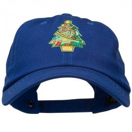 Christmas Tree Patched Washed Cap