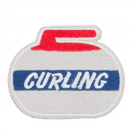 Curling Embroidered Patch