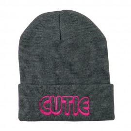 Wording of Cutie Embroidered Beanie