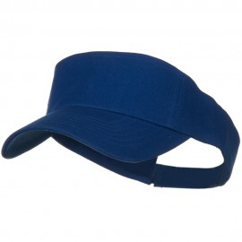 Cotton Twill Sun Visor - Royal