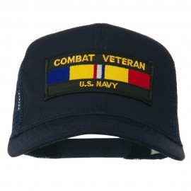 US Navy Combat Veteran Patched Mesh Cap