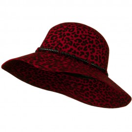 Cheetah Wide Brim Woman's Hat