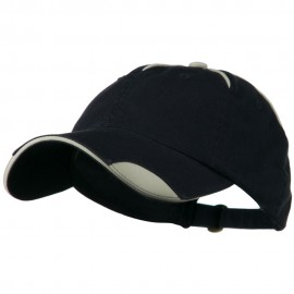 Low Profile Unstructured Cotton Washed Cap - Navy Natural