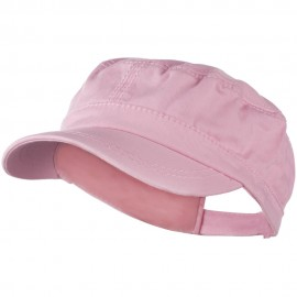 Colorful Washed Military Cap - Pink