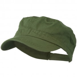 Colorful Washed Military Cap - Olive