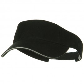 Prostyle Cotton Twill Washed Sandwich Visor - Black Grey