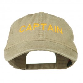 Captain Embroidered Low Profile Washed Cap