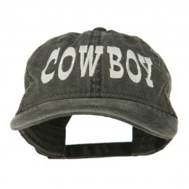 Cowboy Embroidered Washed Cap