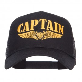 Captain Wing Logo Embroidered Mesh Cap