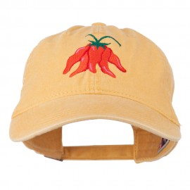 Chili Ristra Embroidered Washed Cap - Yellow