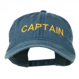 Captain Embroidered Low Profile Washed Cap - Navy