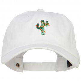 Christmas Cactus Embroidered Unstructured Cap