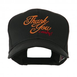 Thank You with Candy Embroidered Cap