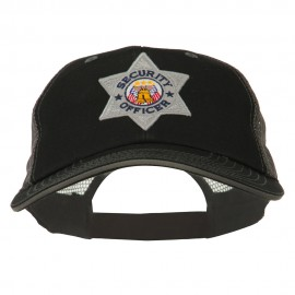 USA Security Officer Patched Big Size Washed Mesh Cap
