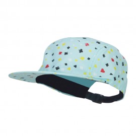Men's 5 Panel Card Print Cap