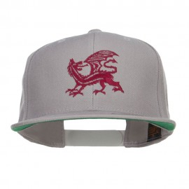 Dragon Emblem Embroidered Snapback Cap