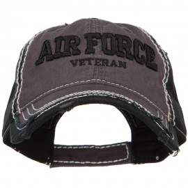 3D Air Force Veteran Embroidered Vintage Frayed Cap