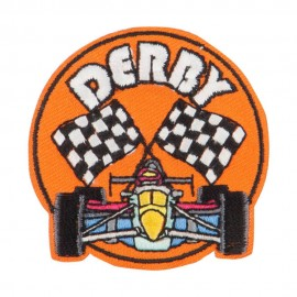 Derby Races Embroidered Patches