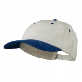 Deluxe Brushed Cotton Two Tone Cap - White Royal