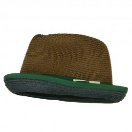 Men's Double Bow Band Fedora