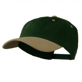 Deluxe Brushed Cotton Two Tone Cap - Forest Khaki