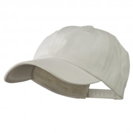 Deluxe Brushed Cotton Cap - White