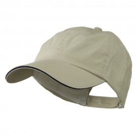 Low Profile Deluxe Canvas Cap - Natural Navy