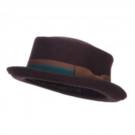 Men's Wool Felt Pork Pie Fedora