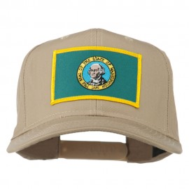 State of Washington Embroidered Patch Cap